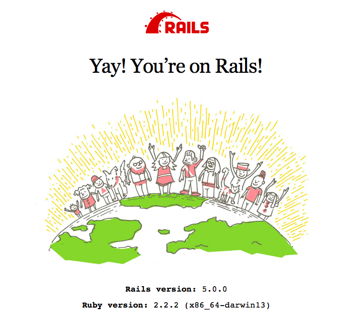 Rails default homepage